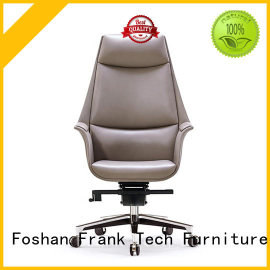 Frank Tech frame modern brown leather chair by Chinese manufaturer