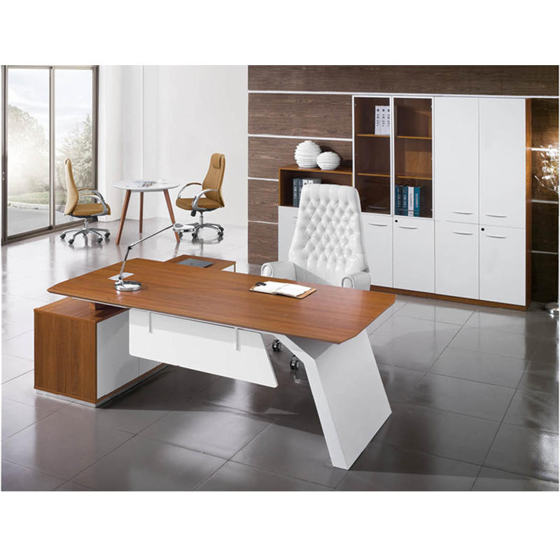 Frank Tech Modern Style L Shaped Wooden Executive Furniture Manager Desk-3