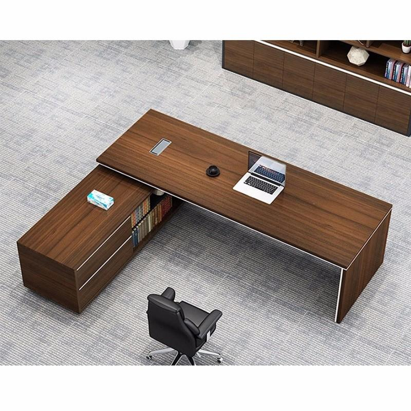 Frank Tech  Contemporary Brown Office Desks CEO Furniture Large Executive Desk-2