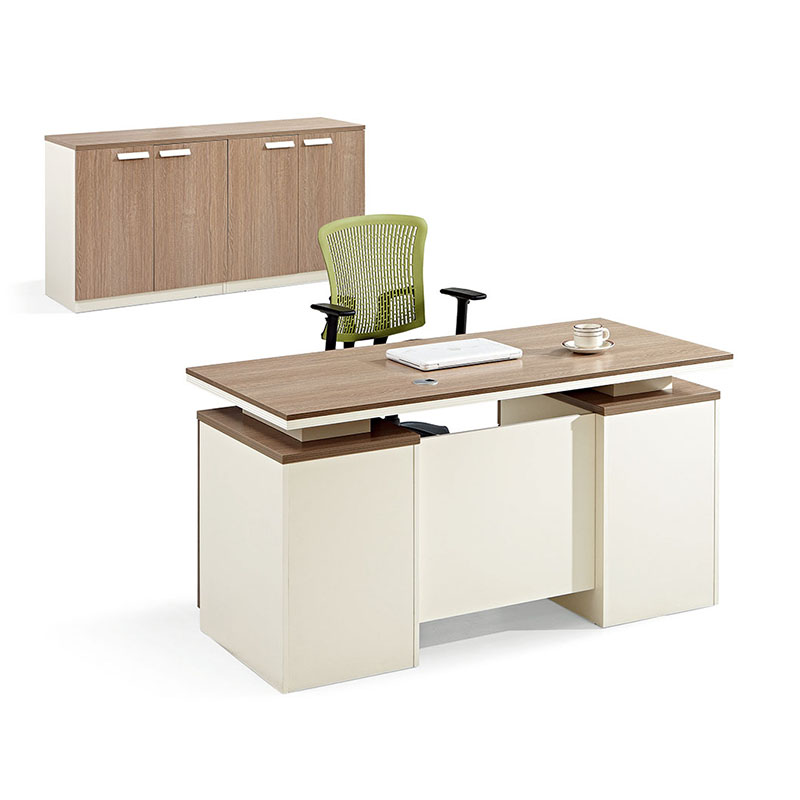Wooden Desk Home Office Computer Desk Table with 3 Drawer One Seater Office Desk-5