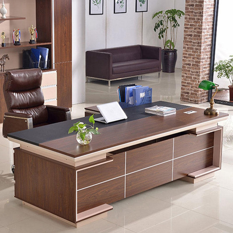 Modern Design CEO Executive Office Table Wooden Manager Work Desk Office Desk FK-1006