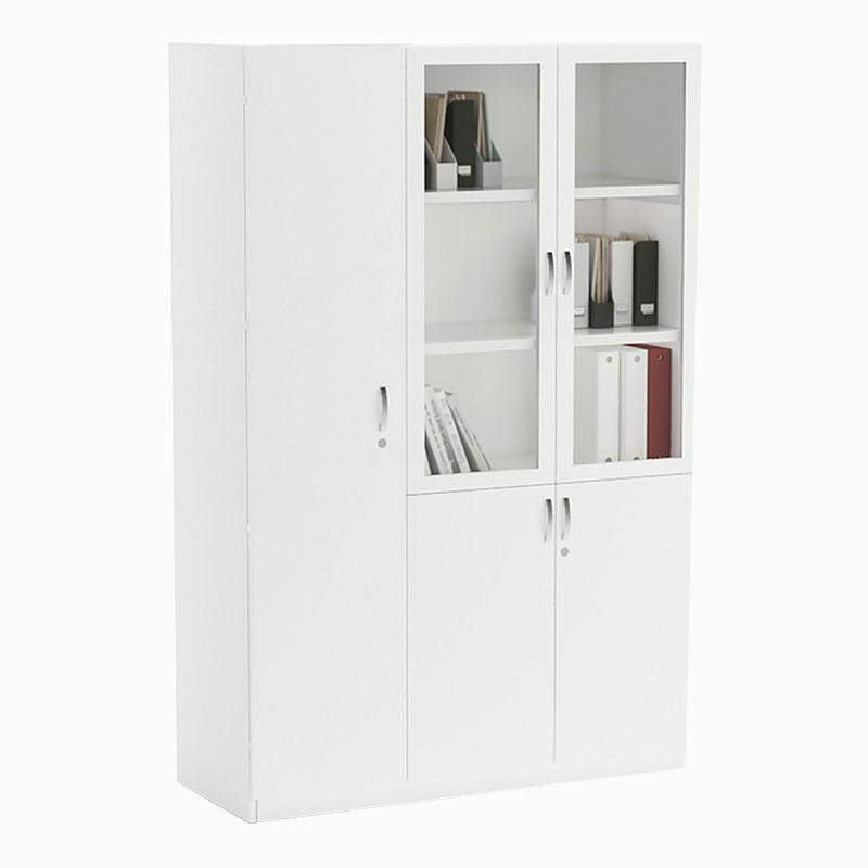 Full Height Modern Cupboard 12 Glass Door Office Filing Hanging Cabinet Filing & Storage Cabinet FK-FC01