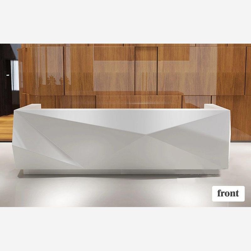 Modern White Custom Design Reception Counter Table Office Counter Reception Table Reception Desks For Salons DR-2001