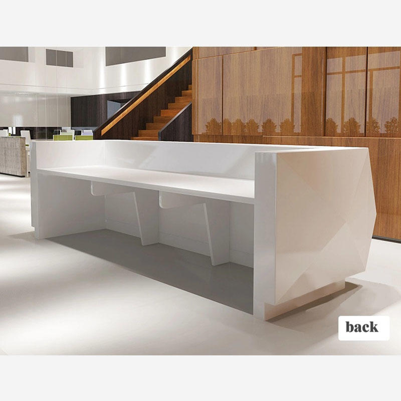 Modern White Custom Design Reception Counter Table Office Counter Reception Table Reception Desks For Salons DR-2001