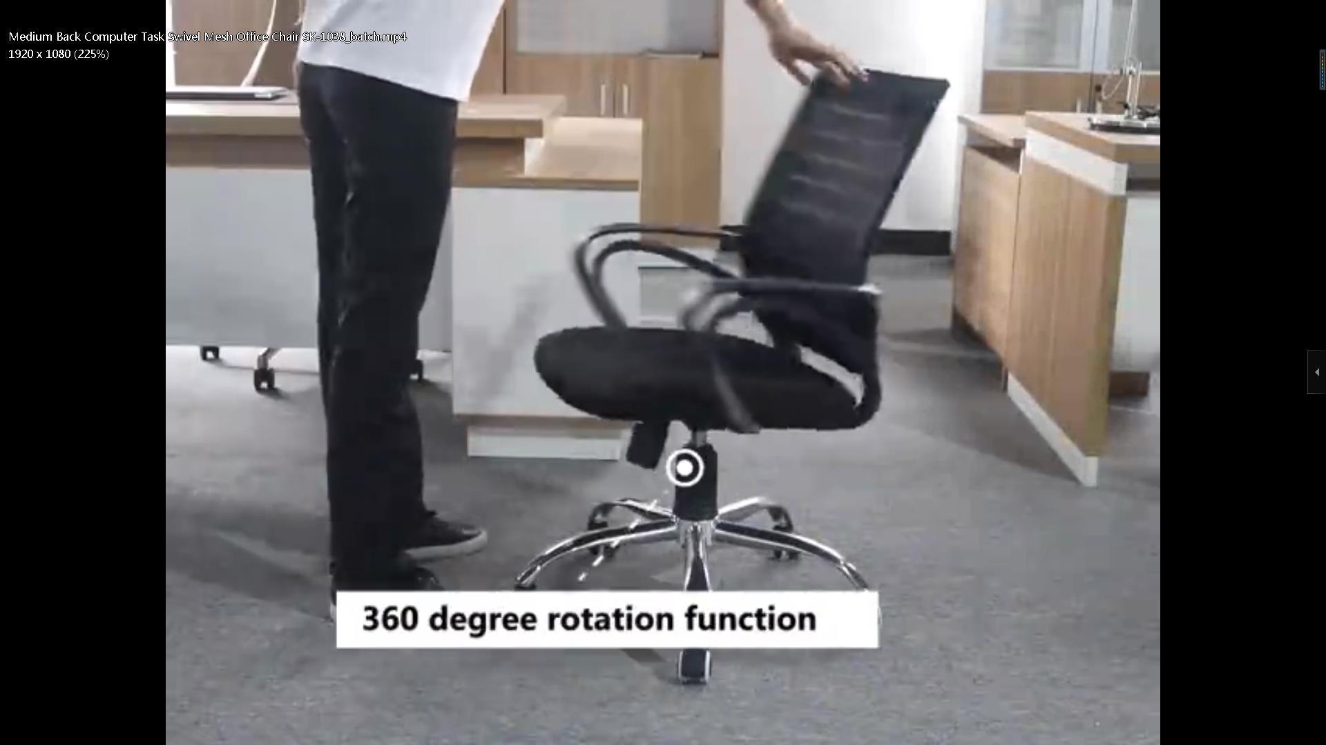 Medium Back Computer Task Swivel Mesh Office Chair SK-1038