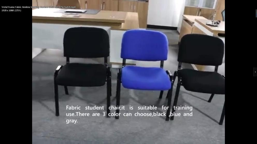 Metal Frame Fabric Armless Stacking Student Chair AD-0256
