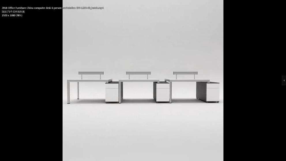 2018 Office Furniture China computer desk 6 person workstation EW-1260-6B