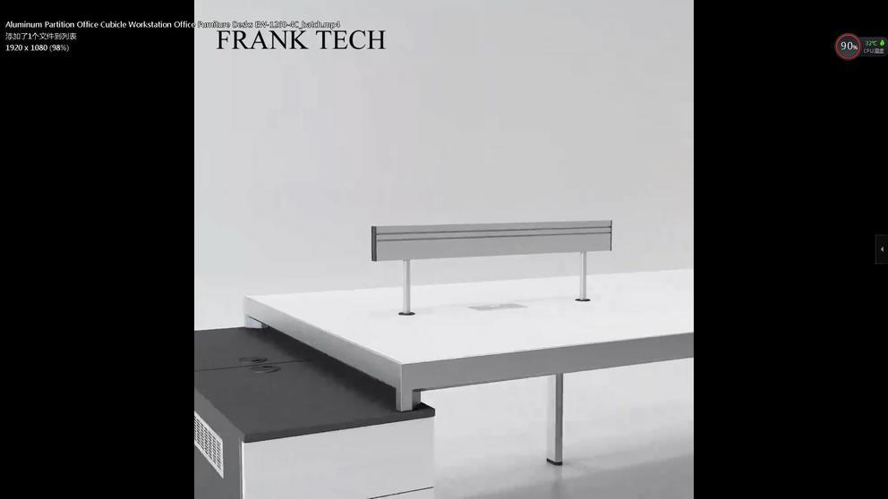Aluminum Partition Office Cubicle Workstation Office Furniture Desks EW-1260-4C