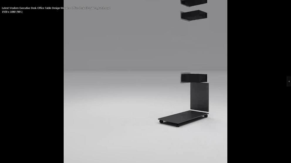 Latest Modern Executive Desk Office Table Design Wooden Office Desk ET-1680-1
