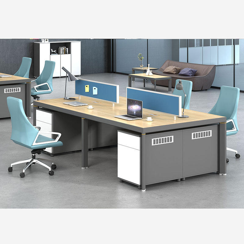 Commercial Office Furniture Office Workstation Office Staff Desk Office Partitions for 4 People EW-1260-4A