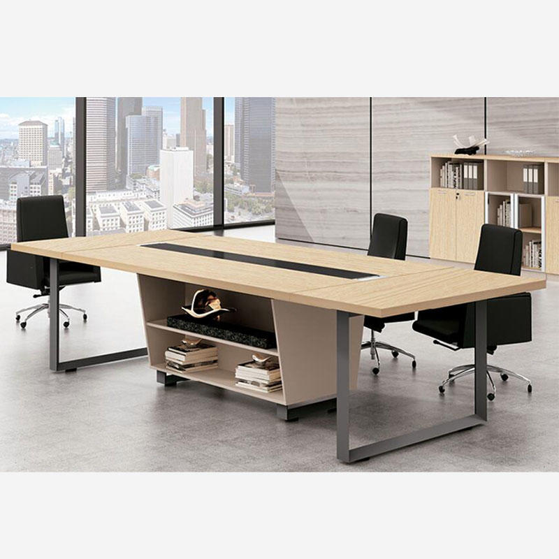 10 person wooden office meeting room table rectangular conference office table FK-6002
