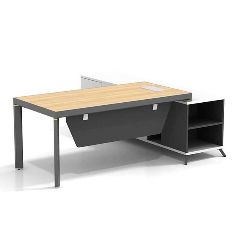 High End Office Executive Table Boss Table Design Home Office Desk Executive Office Desk With Return Side Cabinet  ET-1680-3-4