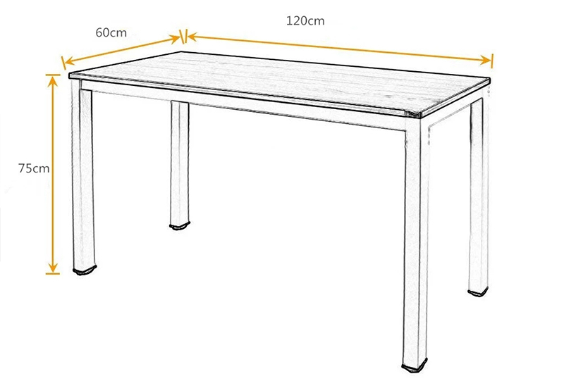 Modern Office Table Desk Simple Design Metal Frame Wooden Office Table Executive Single Computer Desk FK-H001-5