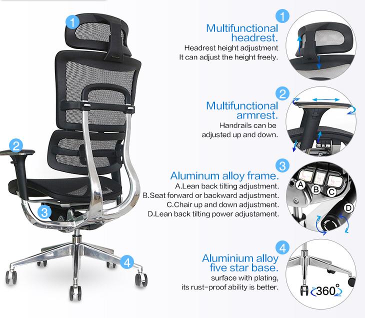 Multifunctional comfortable ergonomic office  executive swivel chair-6