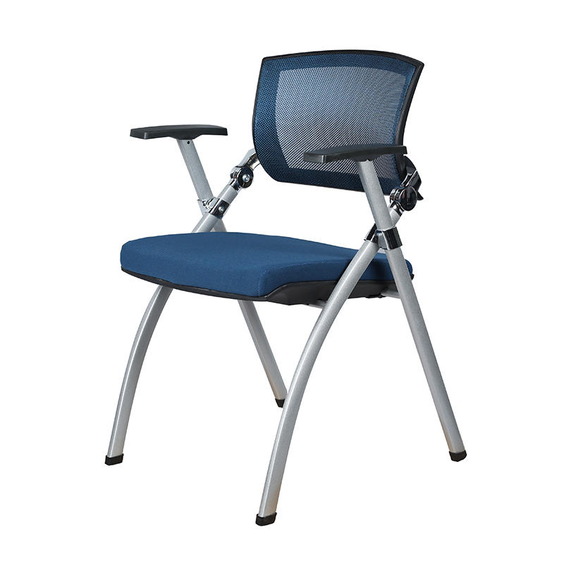 Foldable Mesh Back Training Chair with armrest