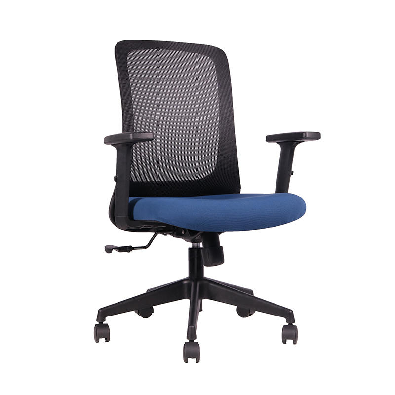 Blue Mesh Back Swivel Secretary Office Chair for Home and Office Use