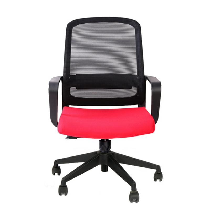 Fixed PP Armrest Office Clerk Computer Mesh Chair for Home and Office