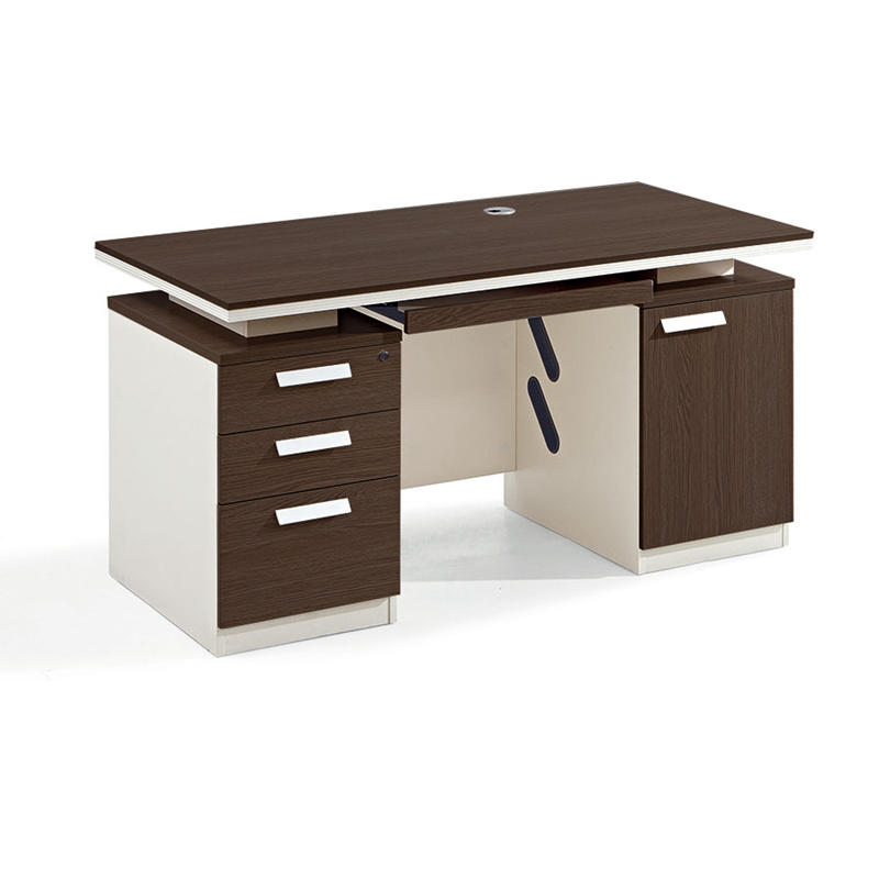 Wooden Desk Home Office Computer Desk Table with 3 Drawer One Seater Office Desk