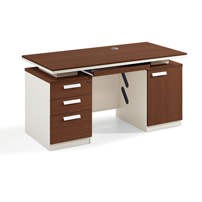 Wooden Desk Home Office Computer Desk Table with 3 Drawer One Seater Office Desk-6