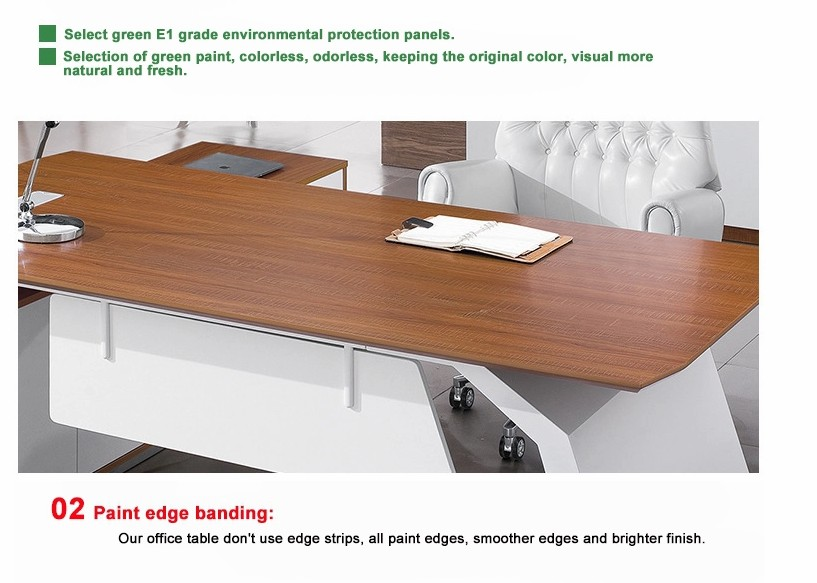 Frank Tech Modern Style L Shaped Wooden Executive Furniture Manager Desk-4