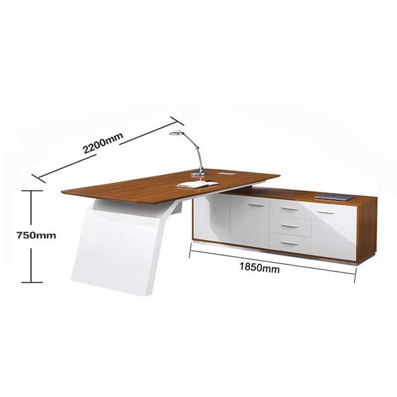 Frank Tech Modern Style L Shaped Wooden Executive Furniture Manager Desk-5