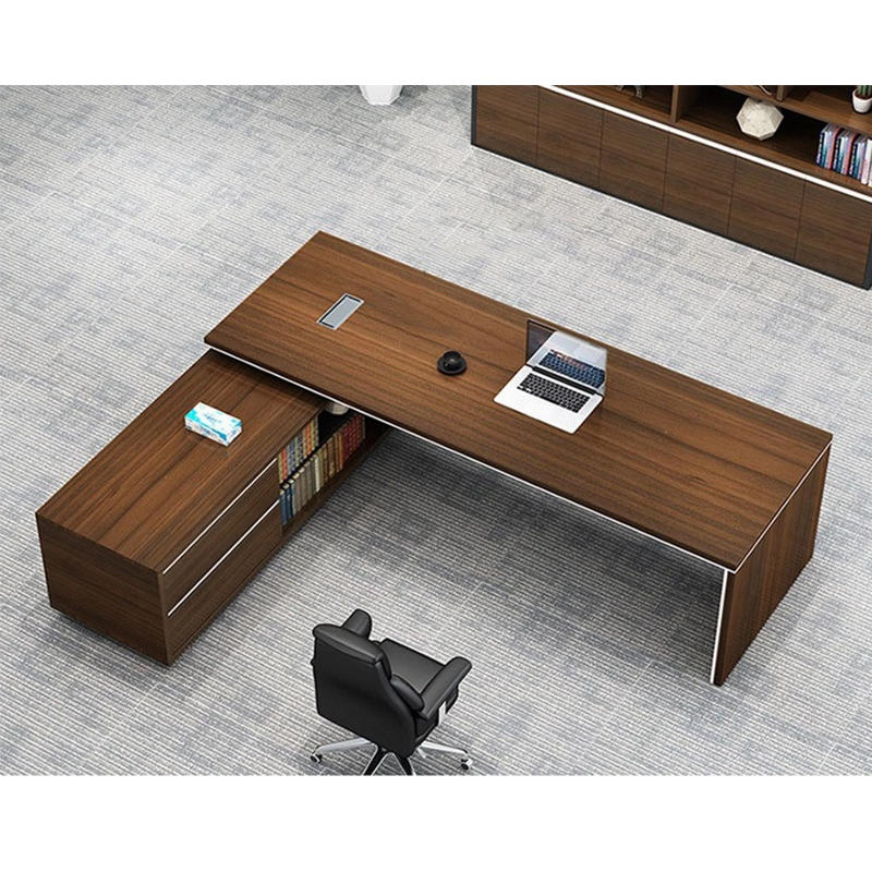 Frank Tech  Contemporary Brown Office Desks CEO Furniture Large Executive Desk