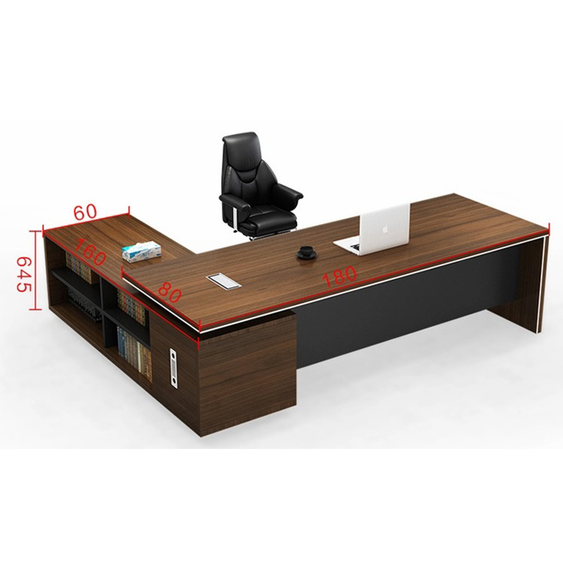Frank Tech  Contemporary Brown Office Desks CEO Furniture Large Executive Desk-4