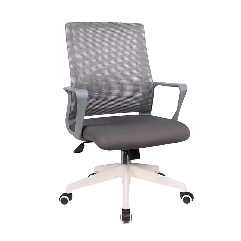 Frank Tech White Frame Mesh Fabric Mid Back Office Operator Chair for Staff Use
