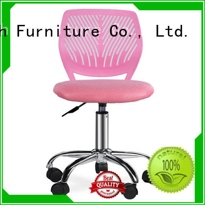 Armless PP Frame Pink Mesh Office Chair for Children