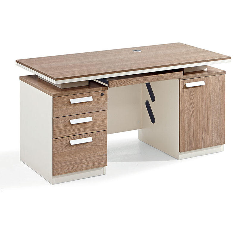 Wooden Desk Home Office Computer Desk Table with 3 Drawer One Seater Office Desk-2