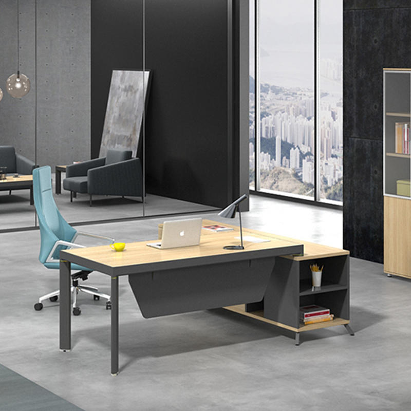 High End Office Executive Table Boss Table Design Home Office Desk Executive Office Desk With Return Side Cabinet  ET-1680-3-1