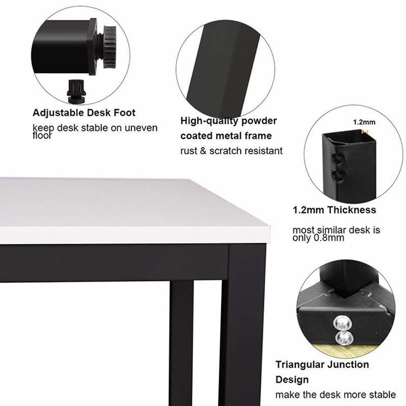 Modern Office Table Desk Simple Design Metal Frame Wooden Office Table Executive Single Computer Desk FK-H001-3