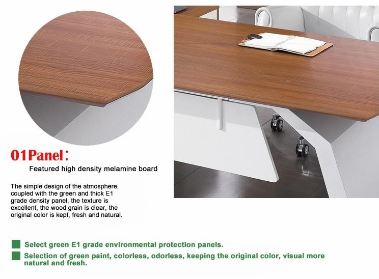 Frank Tech Modern Style L Shaped Wooden Executive Furniture Manager Desk-2