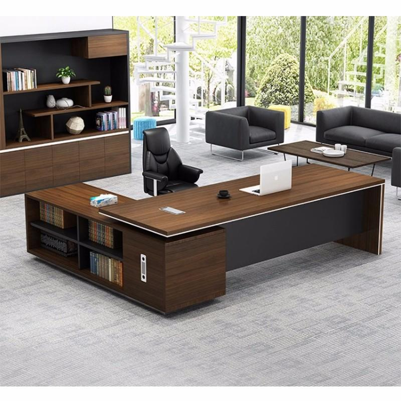 Frank Tech  Contemporary Brown Office Desks CEO Furniture Large Executive Desk-1