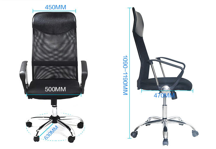 Frank Tech furniture mesh back office chair Certified for bank-2