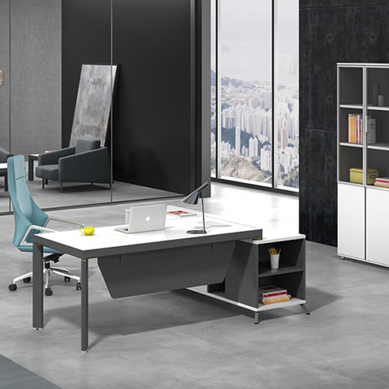 High End Office Executive Table Boss Table Design Home Office Desk Executive Office Desk With Return Side Cabinet  ET-1680-3-2