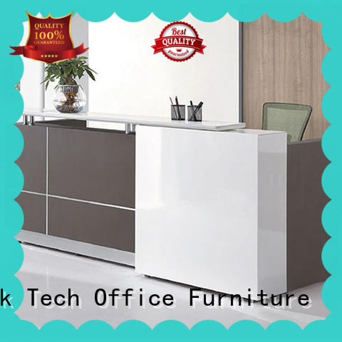 Factory Dierct High Quality Modern Office Reception Desk Tables Office Wooden Counter Office Front Counter FK-R01