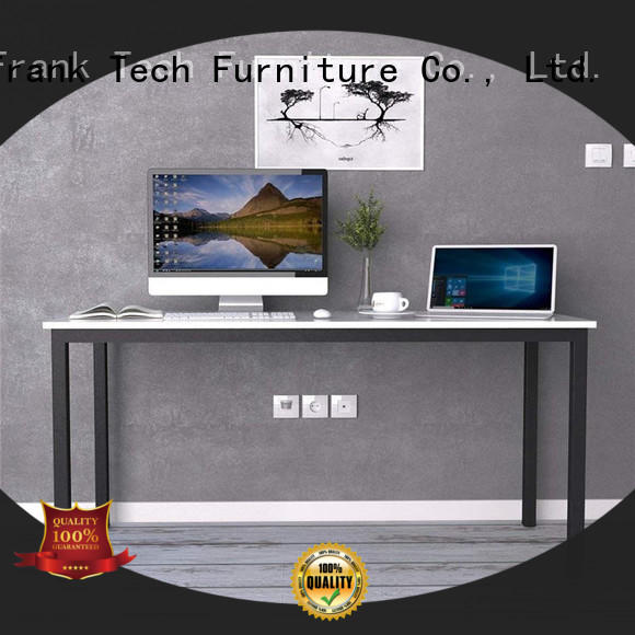 Modern Office Table Desk Simple Design Metal Frame Wooden Office Table Executive Single Computer Desk FK-H001