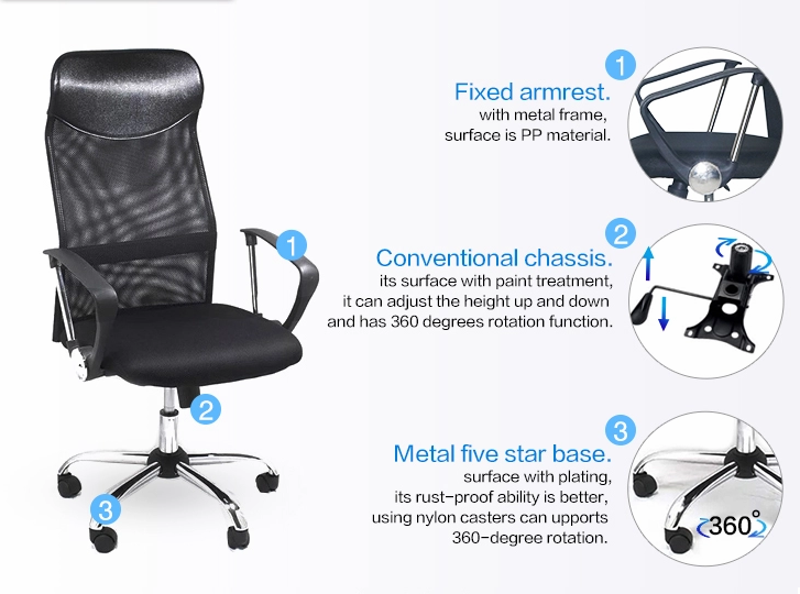 Frank Tech furniture mesh back office chair Certified for bank-3