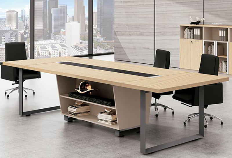 10 person wooden office meeting room table rectangular conference office table FK-6002-1