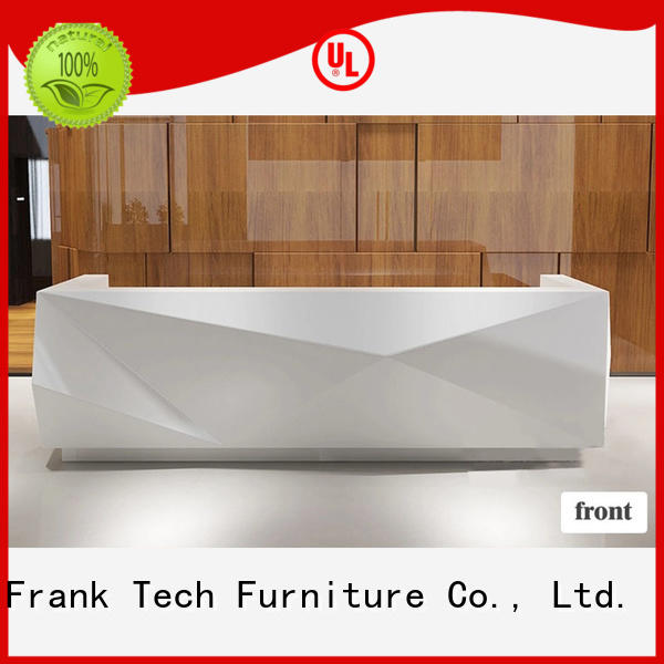 reception front office office reception counter design Frank Tech Brand