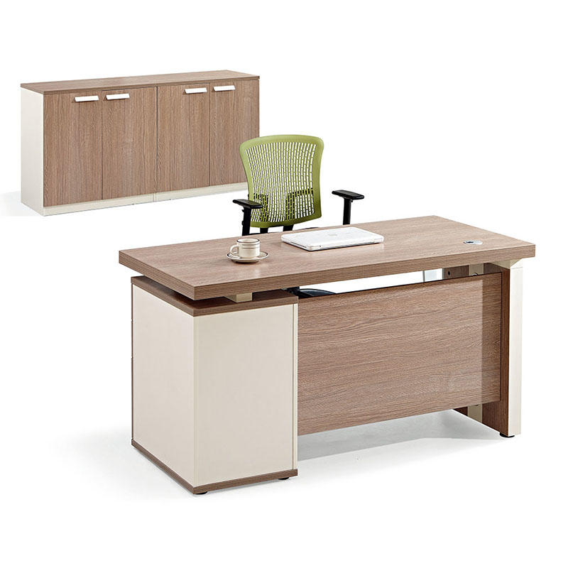 Wooden Desk Home Office Computer Desk Table with 3 Drawer One Seater Office Desk-1