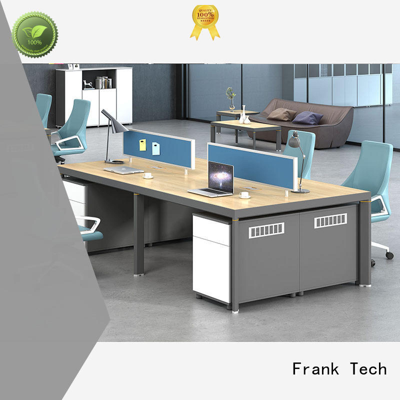 seater workstation desk Aluminum Base for office Frank Tech