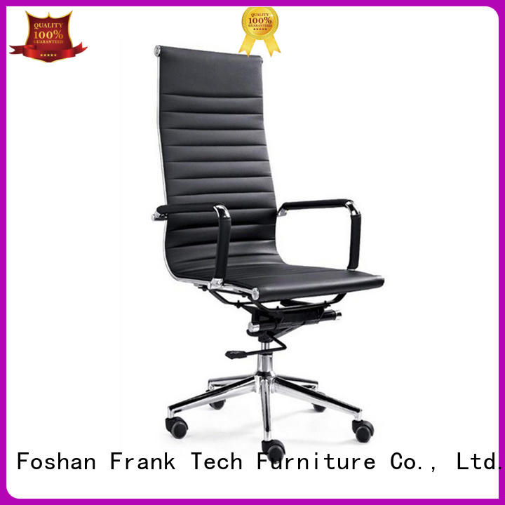 modern brown leather chair boss for school Frank Tech
