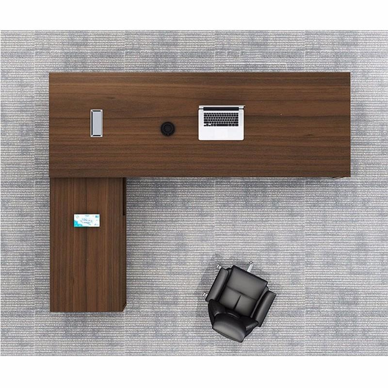 Frank Tech  Contemporary Brown Office Desks CEO Furniture Large Executive Desk-3