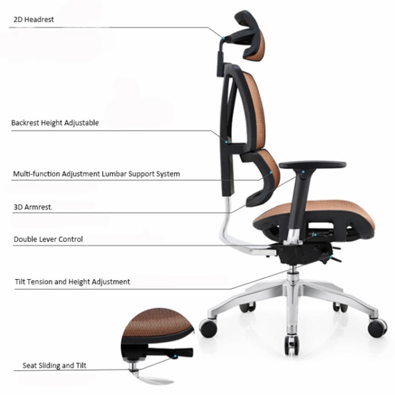 MultiColor ergonomic office chair multifunctional with resists stains for hospital-1
