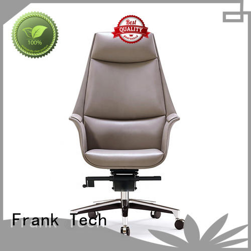Frank Tech Luxury modern brown leather chair order now for bank