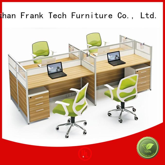 wooden office workstation back Frank Tech