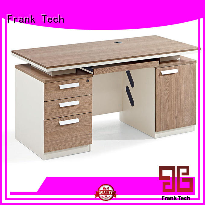 Frank Tech high end stand up computer desk frame for bank